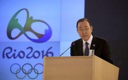 潘基文呼吁奥运期间各方休战 展示团结一致精神