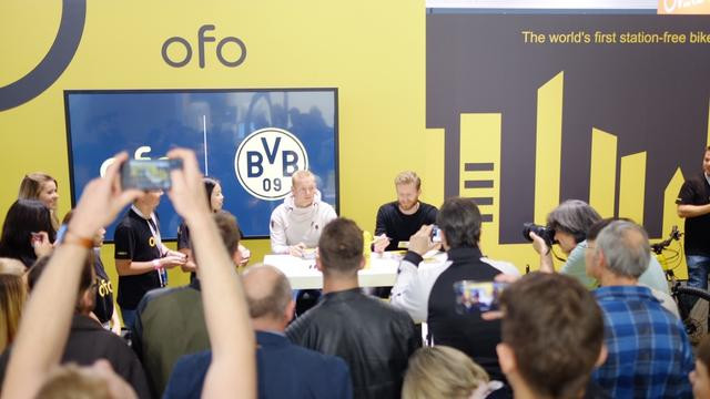 ofo同多特蒙德达成合作 logo出现在威斯特法伦球场