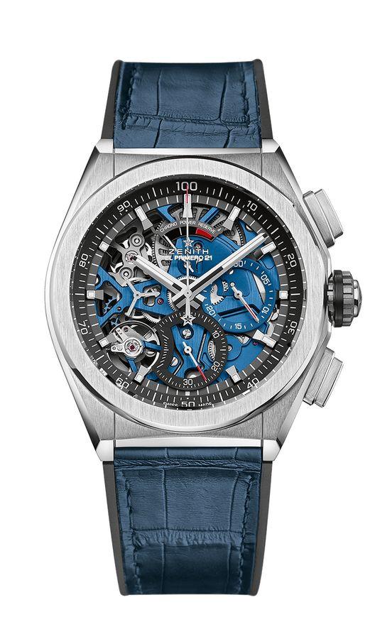 ZENITH真力时DEFY EL PRIMERO 21 静谧蓝腕表,橡胶表带覆以鳄鱼皮涂层,44毫米 RMB 86,400.jpg