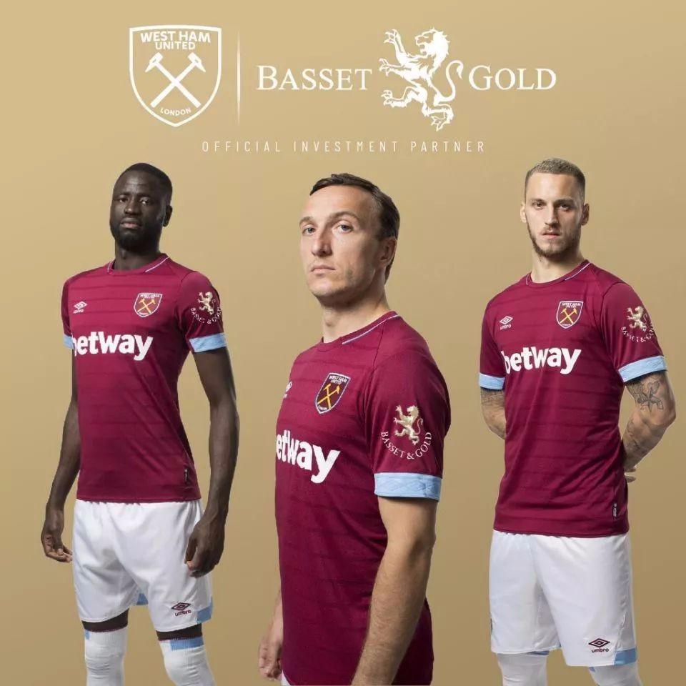 伦敦金融公司Basset&Gold成为西汉姆联队衣袖赞助商