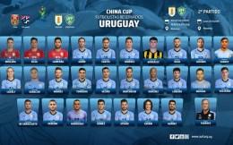 乌拉圭中国杯大名单:苏亚雷斯、卡瓦尼入选