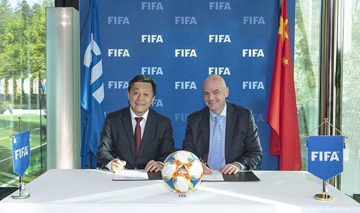 中国足协与国际足联签署合作备忘录