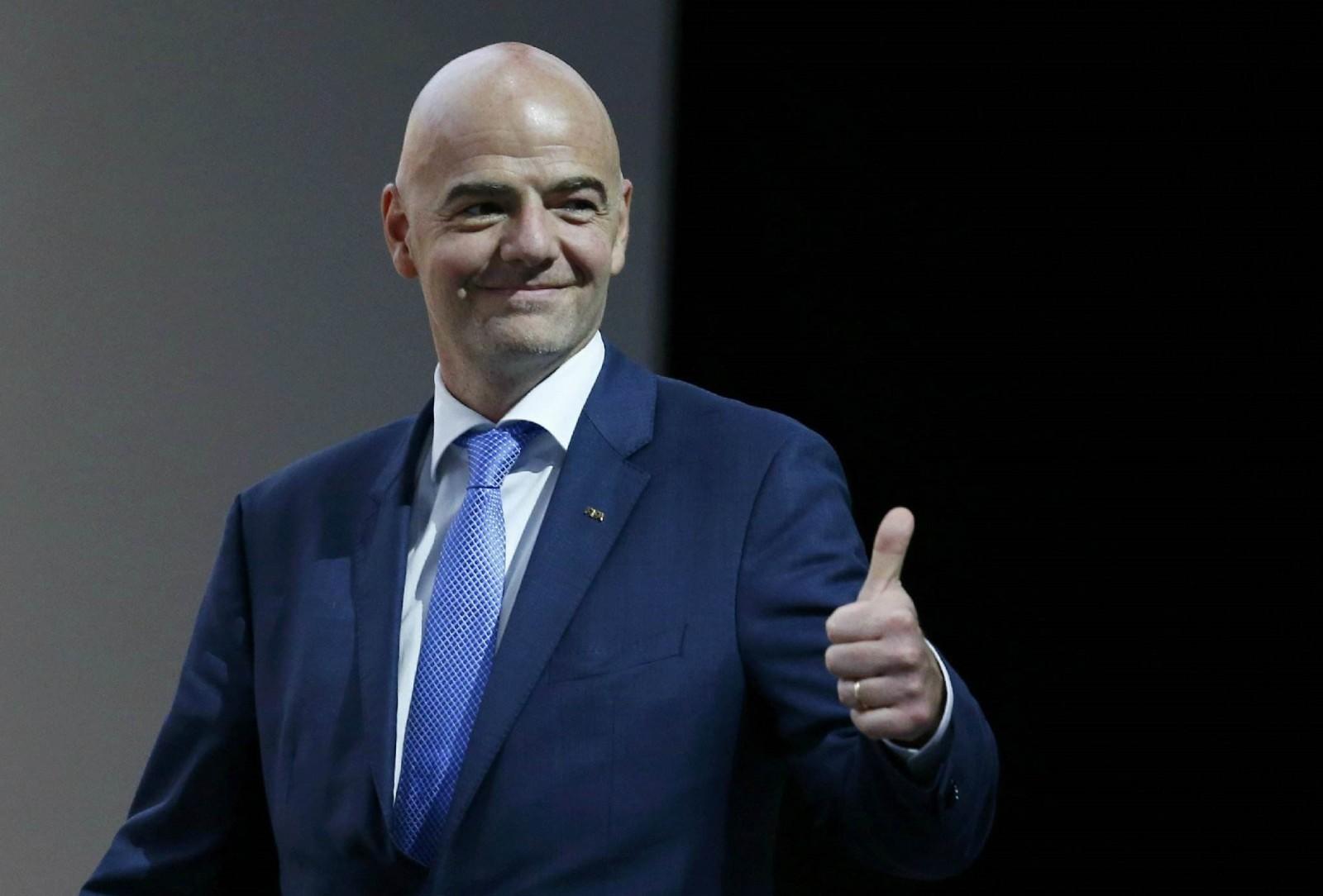 国际足联主席因凡蒂诺连任至2023年