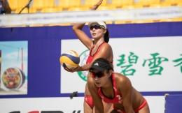 一天赢俩欧洲冠军 中国女子沙排继续冲