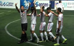 中国盲人足球队第六次称霸亚洲