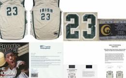 天选之子!詹姆斯高中球衣拍卖价达18.7万美元 为最贵詹姆斯球衣