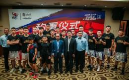 2019亚洲拳王大满贯天津站称重仪式,中朝蒙三国拳手亮相