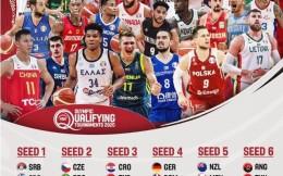 强手如林!FIBA公布奥运落选赛分档:中国男篮被分在第5档