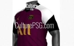 法媒曝光巴黎下赛季第三客场球衣:酒红色球衣 乔丹Logo显眼