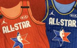 NBA全明星战袍最终版出炉,右肩9星纪念科比直升机失事遇难者