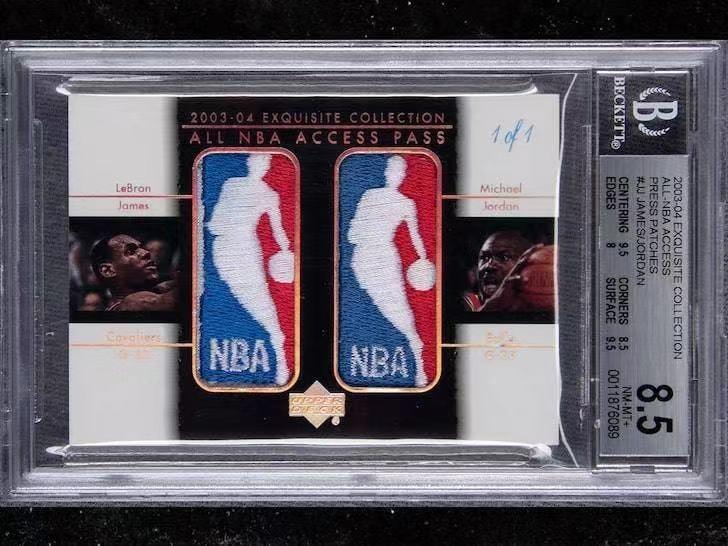 历史最贵!一张乔丹&詹姆斯同框稀有球星卡拍出90万美元