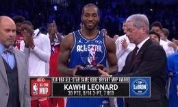 规则改革助推NBA迎来最激烈全明星赛,莱纳德30分夺得科比MVP奖杯