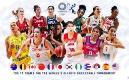 FIBA发布奥运女篮12强海报,抽签仪式将于3月21日进行