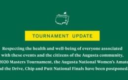 美国大师赛等高尔夫赛事宣布延期