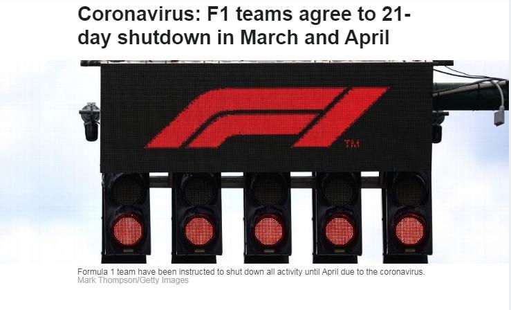 F1夏休期提前至3、4月份,方便赛季开始后尽可能多进行比赛