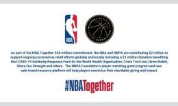 NBA和球员工会捐款200万美元 将用于抗击新冠疫情救援工作