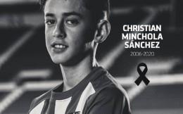 马竞14岁小球员因病去世,万达大都会球场降半旗致哀