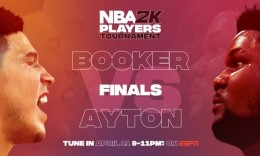 NBA球员2K锦标赛结束 布克以不败战绩夺冠