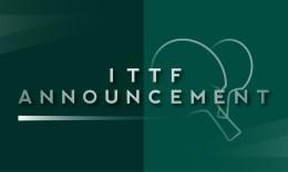 国际乒联官方宣布韩国、澳大利亚公开赛取消