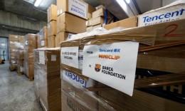 腾讯集团再向巴萨基金会捐赠物资 24.8万只口罩运抵西班牙