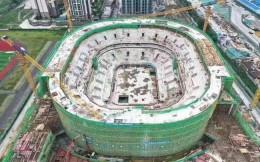 CBA四川男篮新主场主体结构封顶 明年3月将建成