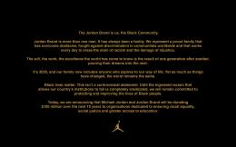 捐款一亿美元!乔丹和AJ品牌将在未来十年促进种族平等等事宜