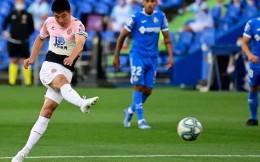 武磊连续首发,西班牙人第16分钟染红客场0比0逼平赫塔费