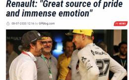 官宣!39岁阿隆索重回雷诺车队 2021年将再战F1