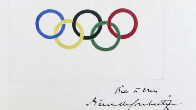 21.6万美元成交 顾拜旦奥运五环签名原稿被拍卖