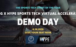 国际体育科技精英初创公司路演日! 瑞腾体育科技ABSGxHYPE体育科技创新加速器将进入最后阶段