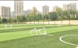 未正式投入使用多处设施已出现破损,武汉一足球场闲置一年多
