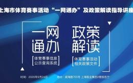 """上海体育赛事活动""""一网通办""""!9月24日这场讲座将权威解读相关政策"""