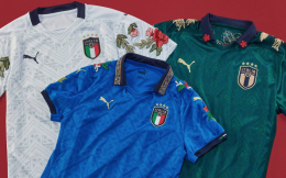 彪马推出新款意大利国家队战袍 文艺复兴元素十足
