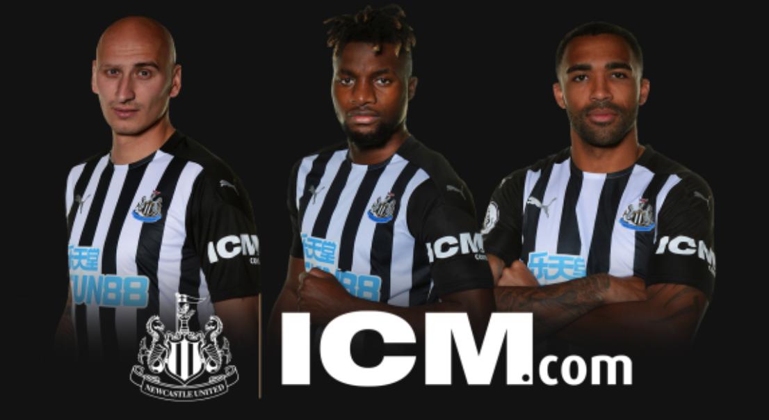 知名金融网站ICM.com成为纽卡斯尔2020-21赛季球衣袖口赞助商