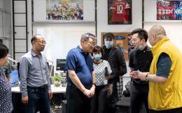 山东莱西市市长王清源等领导一行莅临华视体育调研指导