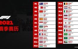 F1 2021赛季初版赛历出炉 中国大奖赛4月9-11日举行