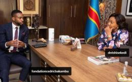 心系慈善!中超射手王巴坎布与民主刚果第一夫人进行会谈