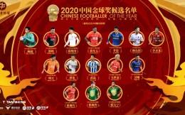 2020中国金球奖15人候选名单出炉 武磊继续领衔