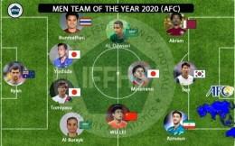 武磊入选年度亚洲最佳阵容