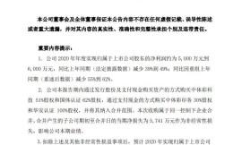 中体产业发布2020年业绩预告:净利润有望达5000万元到6000万元