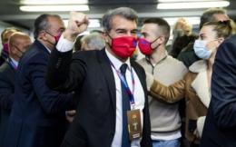 官宣!拉波尔塔当选巴萨第42任俱乐部主席 得票率54.28%
