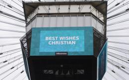 欧洲杯再现暖心一幕:球场大屏祝福埃里克森