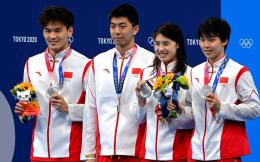 又添1银!中国游泳4×100米混合泳接力摘银,已获3金2银1铜