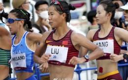 """鞋被踩掉坚持完赛!女子20公里竞走""""四朝元老""""刘虹摘铜"""
