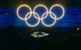 奥运会闭幕式呈现虚拟奥运五环 展现科技力量