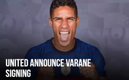 曼聯官方:瓦拉內正式加盟球隊,轉會費3400萬鎊+浮動條款