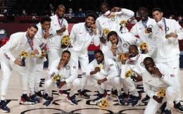 美国男篮夺金 球员每人分3.75万美元奖金